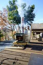 Try a homemade stove in the garden