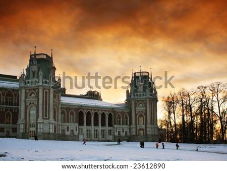 Tsaritsyno palace. Russia. Moscow