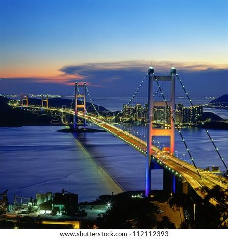 Tsing-Ma Bridge - Hong Kong Stok fotoğraf ©