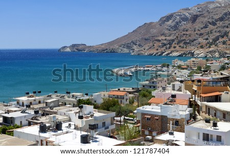 Tsoutsouros bay at Crete island in Greece