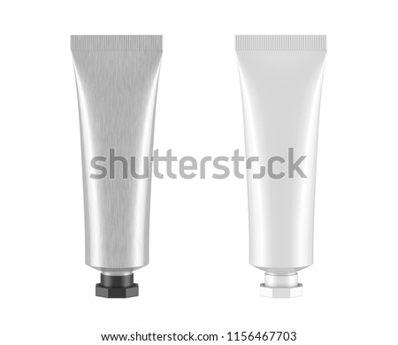 Tube mock up isolated on white background,3D rendering