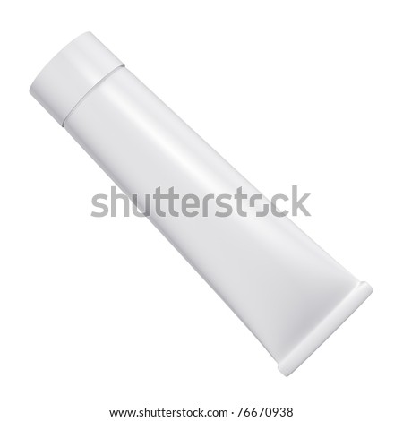 Tube on a white background - stock photo