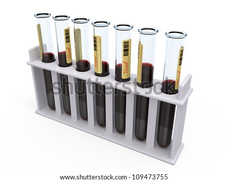 tubes with blood