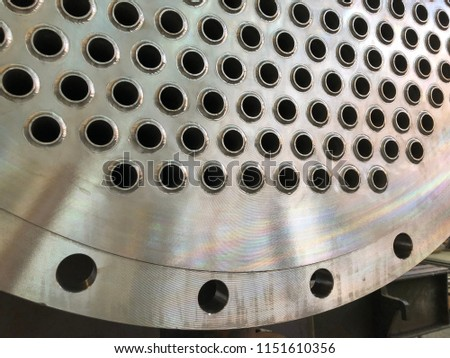 Tubesheet face Pressure Vessel Fabrication