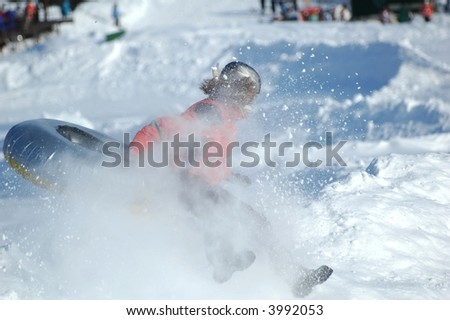 Tubing on snow