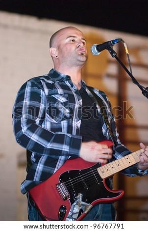 TUCSON, ARIZONA - FEBRUARY 11: Brandon Jim Band opening for Unwritten Law. Concert at the Hut, Tucson Arizona, February 11, 2012.