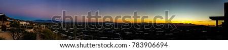 Tucson Sunset Panorama #783906694