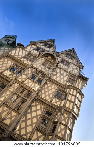 Tudor style house in the city of Angers, France