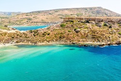 Tuffieha Bay Beach in Malta