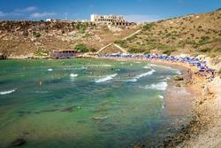 Tuffieha Bay Sandy Beach in Malta