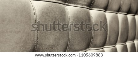 Tufted grey leather headboard texture, used for background #1105609883