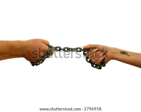 Tugging the chains that bind us a couple