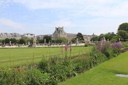 Tuileries garden in Paris - France