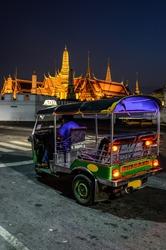 Tuk tuk for passenger cars. To go sightseeing in Bangkok