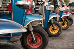 tuktuk bike blue taxi Thailand
