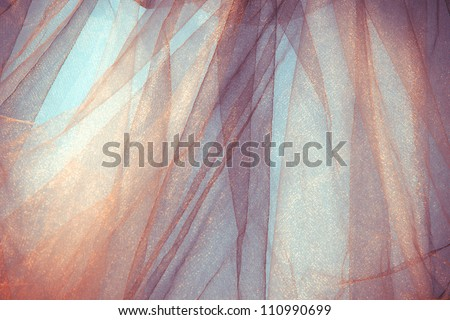tulle fantasy background, back light, horizontal