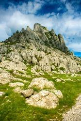 Tulove grede, part of Velebit mountain in Croatia, landsca