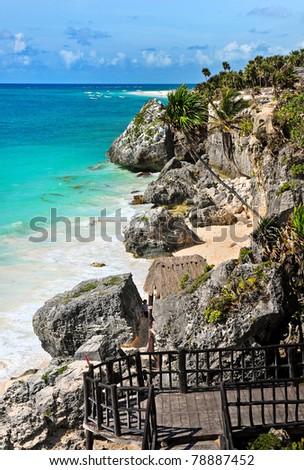 Tulum beach, Riviera Maya, Mexico