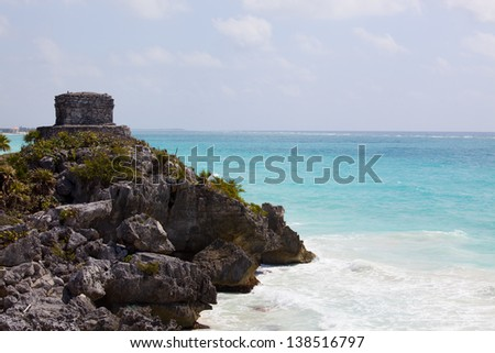 Tulum God of the Winds Temple Mexico