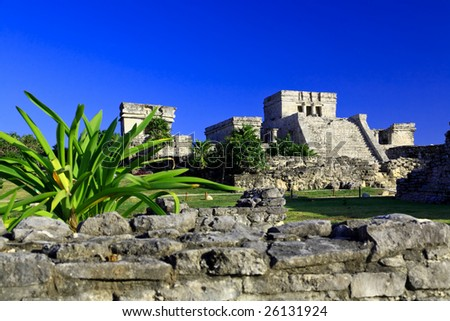 Tulum the one of most famous landmark in the Maya World near Cancun Mexico
