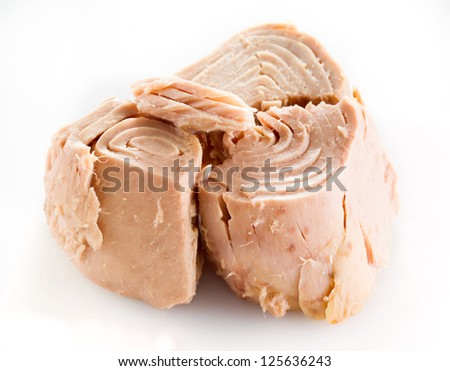 tuna fish isolated on white - stock photo