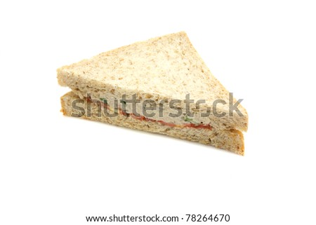 tuna sandwich isolated in white background