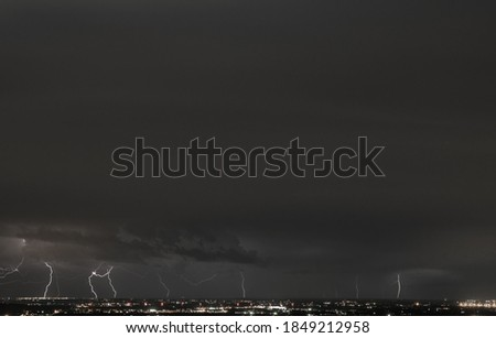 Tunder feel the tunder, lightning in the tunder. Stock fotó ©