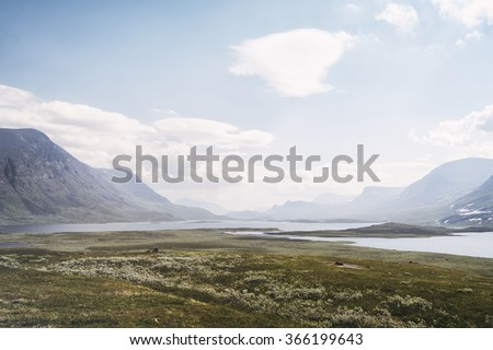 Tundra landscape in northern Lapland, Sweden
