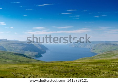 Tundra landscape of the island Mageroya in the extreme northern part of Norway