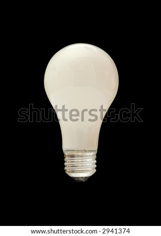tungsten light bulb with clipping path