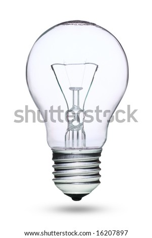 Tungsten lightbulb isolated over white background