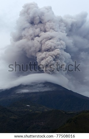 Tungurahua volcano eruption ,May 2011, Ecuador, South America.