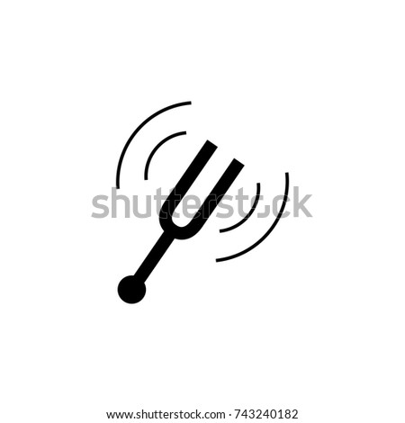 tuning fork icon on white background