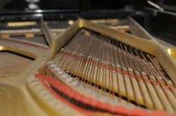 Tuning Your Piano. Close-up view. Musical instruments. High quality photo