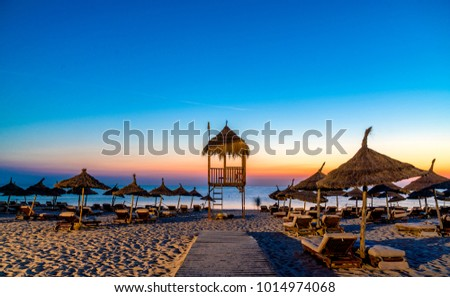 Tunisia Yasminea Hammamet Resort Beach Sunrise #1014974068