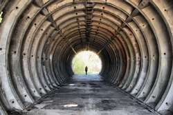 Tunnel. Abandoned military base