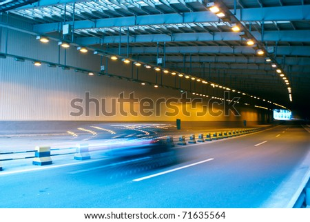 Tunnel and high-speed car