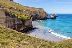 Tunnel beach, Dunedin, South island of New Zealand