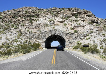 Tunnel in Big Bend National Park, NM.