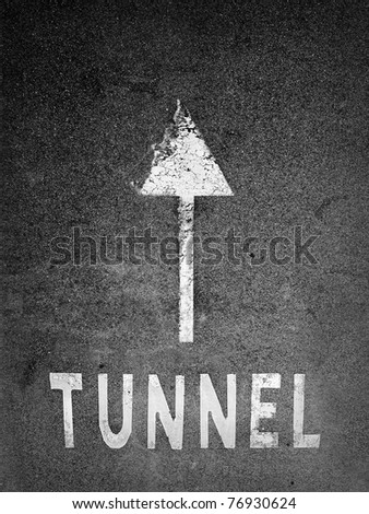 Tunnel information on the road