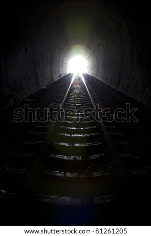 Tunnel light.