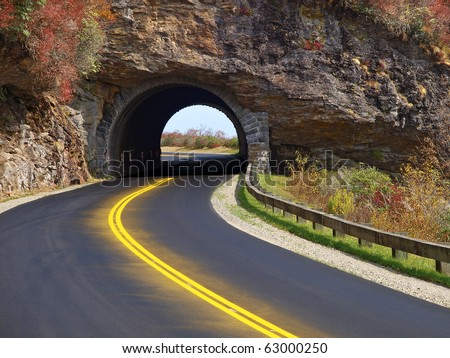 tunnel on blue ridge parkway