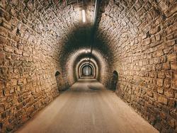 Tunnel Valeta in Portorož, Slovenia. Architecture. Backgrounds.