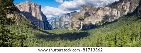 Tunnel View panorama, Yosemite National Park