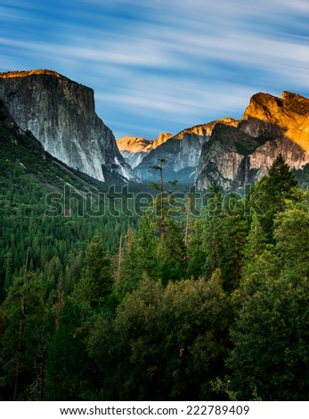 Stock Photo Tunnel View Yosemite
