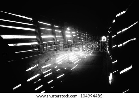 tunnel with silhouettes