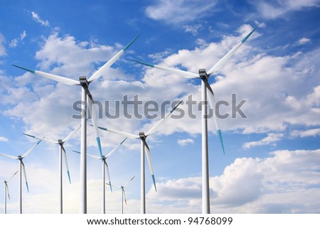 Turbine and blue sky