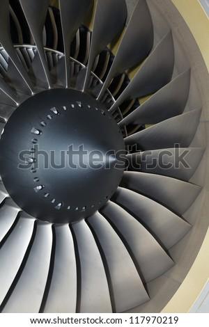 turbine blades jet engine aircraft civil photo