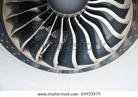 Turbine Blades of An Aircraft Jet Engine