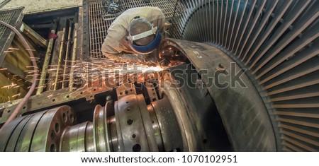 turbine rotor maintenance job...